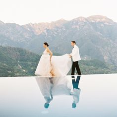 This Couple Invited Their Immediate Family To Ravello Italy For A Seaside Wedding - Travel Trends Seaside Wedding, Italy Wedding, Ravello Italy, Let's Get Married, Garland Wedding, Wedding With Kids, Wedding Music, Amalfi Coast, California Wedding