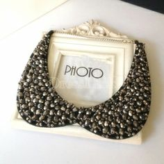 Women's Elegant Crystal Bead Vintage Black Collar Necklace