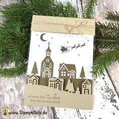 Weihnachten daheim - beleuchteter Rahmen - Folienkarte - Stampin´Up!
