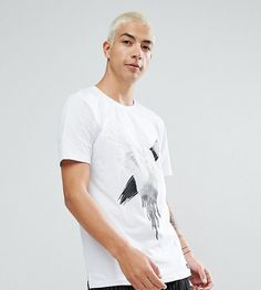 Just Junkies T-Shirt With Wing Print - White