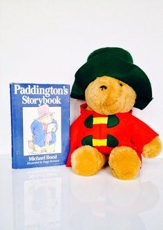 Vintage Paddington Bear Plush And Storybook by RetroAlleyVintage, $28.00