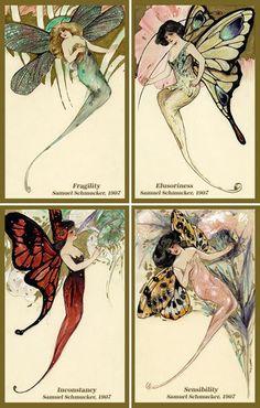 Olde America Antiques | Quilt Blocks | National Parks | Bozeman Montana : Fantasy - Butterflies Girls by Schmucker