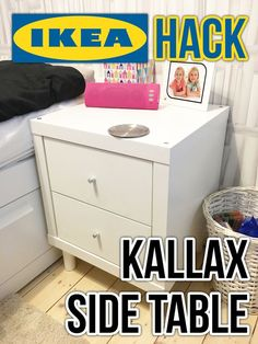 IKEA Hack - Kallax side table / bedside table / nightstand