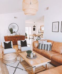 helpful tips for creating bright living room ideas - interior designs -. - helpful tips for creating bright living room ideas - My Living Room, Living Room Interior, Home And Living, Cozy Living, Neutral Living Rooms, Bright Living Room Decor, Tan Sofa Living Room Ideas, Leather Living Room Furniture, Tan Couch Decor