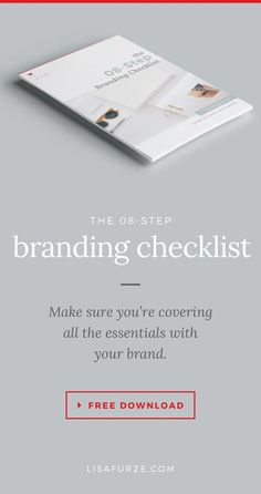 A step-by-step guide to branding your business. From goals to values to logos — make sure you've got all the essentials covered with this checklist. Branding Your Business, Promote Your Business, Creative Business, Business Tips, Online Business, Branding Pdf, Branding Design, Ux Design, Brand Board