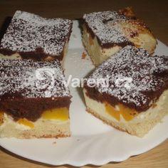 Fotografie receptu: Buchta s tvarohem a broskví Food Hacks, Food Tips, French Toast, Cheesecake, Sweets, Breakfast, Recipes, Morning Coffee, Food Stamps