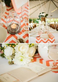 Coral chevron with shades of white. Chevron with red or navy blue? I think it would be adorable! Or maybe change to Polka Dots!