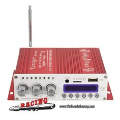 23,39€ - ENVÍO SIEMPRE GRATUITO - Mini Amplificador 12V 40W Hi-Fi con Pantalla LED SD MMC AUX MP3 Bluetooth con Mando a Distancia - TUTIENDARACING