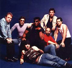 Bruce Springsteen and the E Street Band in the 1980s.