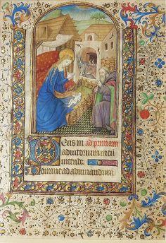 Nativity, Book of Hours ~ Paris ca. 1440