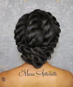 Black Protective Twisted Updo
