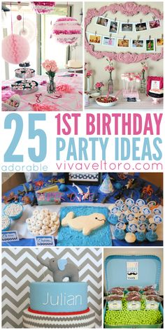25 absolutely adorable first birthday party ideas.