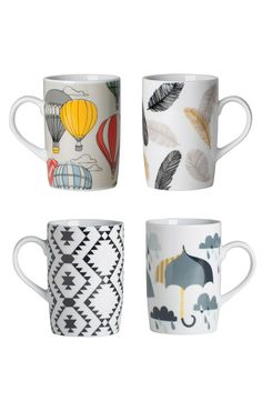 Cute Mugs, sharpie DIY ideas maybe?: