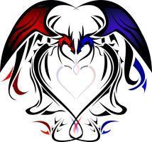 Dragon Heart tattoo flash by Silentsleeper Tribal Dragon Tattoos, Celtic Dragon Tattoos, Small Dragon Tattoos, Dragon Tattoo Designs, Wolf Tattoos, Body Art Tattoos, Hand Tattoos, Small Tattoos, Sleeve Tattoos