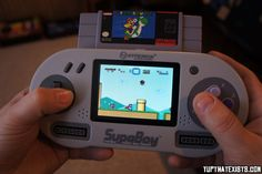 Portable Super Nintendo Player You can now take the best nintendo system ever created on the go. The Hyperkin Supaboy gives you the power of a full SNES in your pocket, and even gives you the ability to hook up controller's for multiplayer functionality. BUY IT HERE