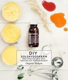DIY- Gör din egen naturliga solskyddskräm - Organic Makers