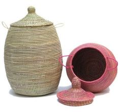 corbeille linge rotin 2 tons couvercle et sac tissu baolgi corbeille linge pinterest. Black Bedroom Furniture Sets. Home Design Ideas