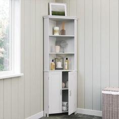 Open Shelving, Storage Shelves, Adjustable Shelving, Shelf, Room Shelves, Slim Bathroom Storage Cabinet, Bathroom Corner Cabinet, White Corner Cabinet, Corner Cabinets
