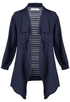 $16.96 (sale) Plus Size Crochet Back Cardigan | Plus Size Avenue Clearance | Avenue