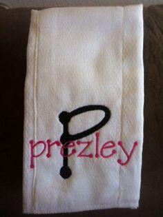 Burp cloth with name $6