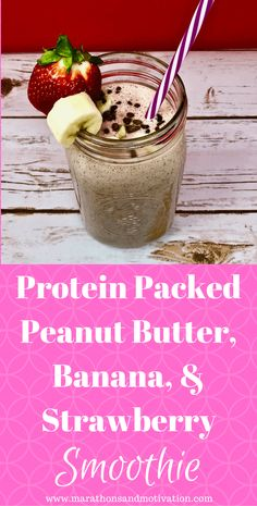 A Protein Packed Peanut Butter, Banana, and Strawberry Smoothie made with Dr. Axe Multi Collage Protein Powder: Smoothies Protein Drinks Healthy Recipes click now for more info. Raspberry Smoothie, Fruit Smoothies, Healthy Smoothies, Healthy Drinks, Healthy Juices, Healthy Food Options, Healthy Recipes, Protein Recipes, Healthy Breakfasts
