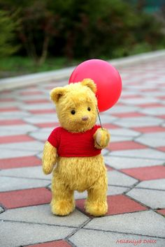 Winnie The Pooh, teddy bear, Winnie-the-Pooh, Christopher robin 2018 bear Winnie the Pooh is approximately 39 cm in). Features of Winnie the Pooh toy: – It's made of German mohair Shulte. Winnie The Pooh Tattoos, Cute Winnie The Pooh, Winne The Pooh, Winnie The Pooh Quotes, Winnie The Pooh Friends, Pooh Bear, Tigger, Cute Disney, Disney Art