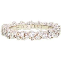 Paul Morelli | Confetti Band White Gold | Max's | Click to buy! $6,000 #diamondweddingbands