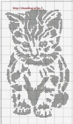 chats en points cpts I think I will use this as a knitting chart - stocking stitch for the background and purl for the pattern (dots): Hand Embroidery Patterns, Cross Stitch Patterns, Knitting Charts, Knitting Patterns, Free Knitting, Baby Elefante, Vogue Knitting, Knit Picks, Baby Kind