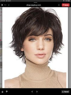 Good Looking Remy Human Hair Straight Capless Wig, Wigs Short Hair With Bangs, Short Hair With Layers, Cute Hairstyles For Short Hair, Hairstyles Haircuts, Short Hair Cuts, Straight Hairstyles, Shaggy Short Hair, Short Human Hair Wigs, Thick Hair