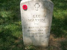 lee marvin - arlington cemetery