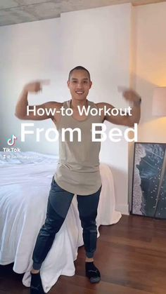 Gym Workout For Beginners, Fitness Workout For Women, Sport Fitness, Workout Videos, Yoga Fitness, Easy Workouts, At Home Workouts, Senior Fitness, Bed Exercises