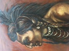 Sepia tone oil painting I did of Native American Indian.  Prints available on Ebay