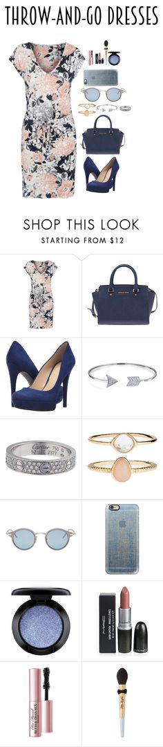 """blue"" by danaikac ❤ liked on Polyvore featuring George, Michael Kors, Jessica Simpson, Bling Jewelry, Cartier, Accessorize, Thom Browne, Casetify, MAC Cosmetics and Too Faced Cosmetics"