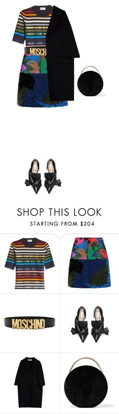 """Untitled #4246"" by michelanna ❤ liked on Polyvore featuring Sonia Rykiel, Moschino, Marni and Eddie Borgo"
