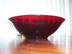 Royal Ruby Glass, Large Bowl, Anchor Hocking    http://outasitecollectibles.com/royalrubybowl