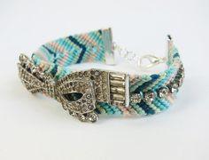 Friendship bracelet with vintage jewelry by HayleySheldon on Etsy, $68.00