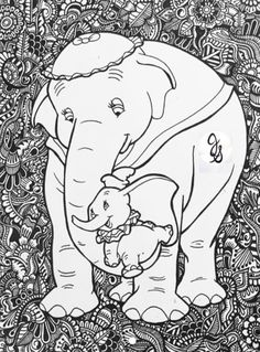 coloring pages - Items similar to Dumbo Design on Etsy Horse Coloring Pages, Cartoon Coloring Pages, Disney Coloring Pages, Coloring Pages To Print, Colouring Pages, Coloring Books, Arte Disney, Disney Art, Disney Silhouettes