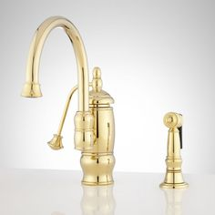 $399.95 CLEMENT SINGLE-HOLE KITCHEN FAUCET WITH SIDE SPRAY