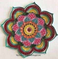 Quilled Mandala, quilled rangoli, on edge quilling, mandala, rangoli