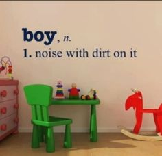 Baby boy room! Lol! Nicki, you could do this for Amanda.