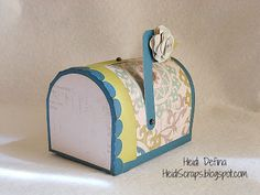 Avonlea mailbox made using the CTMH Cricut Artiste Cartridge from Heidi Scraps
