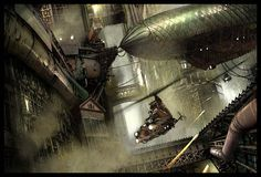 Steampunk City 02 by Benjamin Carré