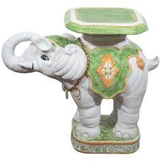 Vintage Asian Garden Stool Planter Elephant Seat Stand