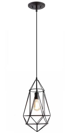simple but elegant design caged pendant light made in china