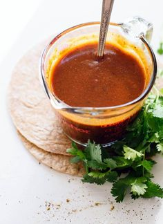 Enchilada Sauce Learn how to make homemade enchilada sauce (it's so easy and so much better than the store-bought kind!) - Learn how to make homemade enchilada sauce (it's so easy and so much better than the store-bought kind! How To Make Enchiladas, Best Enchiladas, Homemade Enchiladas, Vegetarian Enchiladas, Best Enchilada Sauce, Recipes With Enchilada Sauce, Sauce Recipes, Authentic Enchilada Sauce, Kitchen