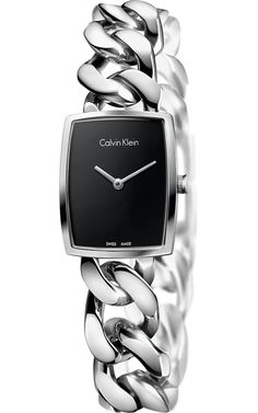 94989005a6a David Jones - Calvin Klein Amaze Ladies Black Dial On Stainless Steel  Bracelet