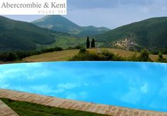 The view from the infinity pool at the I Tigli villa by Abercrombie and Kent