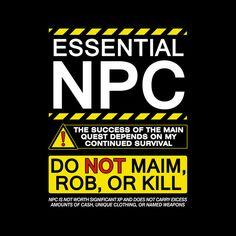 OffWorld Designs - Essential NPC T-Shirt, $20.00 (https://www.offworlddesigns.com/essential-npc-t-shirt/)