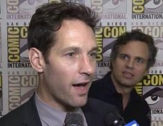 """Is that PAUL RUDD??!"" - fangirl Mark Ruffalo at San Diego Comic Con, July 26, 2014"