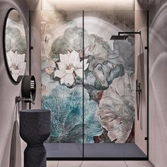 Bathroom wallpaper wet system Niveum by Wall & Deco